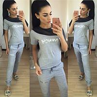 Костюм Givenchy женский повседневный футболка и брюки SKol54