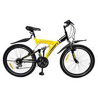 Велосипед Profi Cyclops подростковый 24 дюйма Профи Циклоп двухподвес M2415MIX