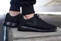 Мужские кроссовки Nike Roshe Run All Black