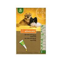 Advocate (Адвокат) капли для собак массой до 4 кг, от блох, клещей, глистов