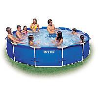 Каркасный бассейн Metal Frame 3,66х0,76м с насосом 2м3/ч Intex