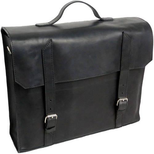 Кожаный стильный портфель для мужчины Agruz 270516 черный Размеры: 39х33х12 см.