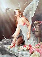"""Схема для вышивки бисером """"Девушка-ангел"""""""