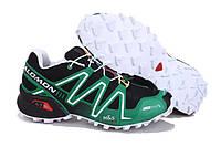 Кроссовки мужские беговые Salomon Speedcross (саломон, оригинал) зеленые
