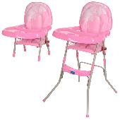 Детский стульчик для кормления Bambi розовый