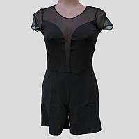Комбинезон женский черный сетка