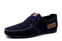 Спортивные туфли Falcon, мужские, натуральный нубук, синие, р. 43