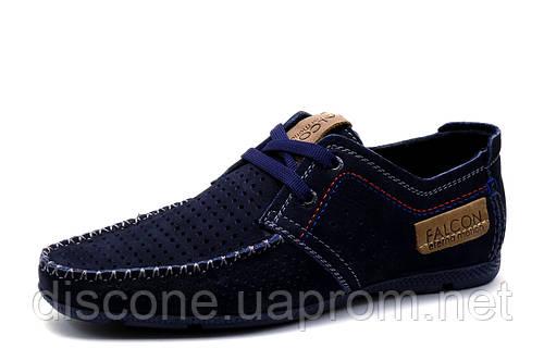 Спортивные туфли Falcon, мужские, натуральный нубук, синие
