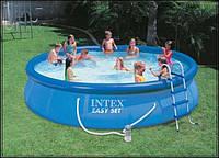 Надувной семейный бассейн Easy Set Intex 457*84 см