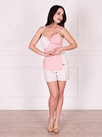 """Летняя женская пижама (майка+шорты) """"Розетта"""""""