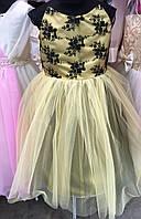 Нежное детское платье с цветочным принтом