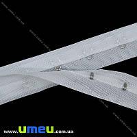 Тесьма с крючками, Белая, 25 мм, 1 м (SEW-016120)