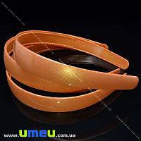 Обруч пластиковый перламутровый, 20 мм, Оранжевый, 1 шт (OSN-004271)