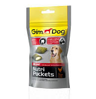 GimDog Nutri Pockets Brilliant Лакомство с мясом домашней птицы для ухода за зубами