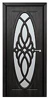 Дверь межкомнатная остекленная Орхидея (Тик)