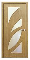 Дверь межкомнатная остекленная Пальмира (Светлый дуб)