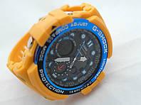 Часы  G-Shock - Gulfmaster Gold, стальной безель, стальной бокс, желтые