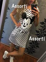 Женское платье в горох Микки Маус