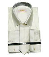 Рубашка мужская с галстуком приталенный крой, фото 1
