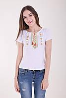 Хлопковая летняя футболка вышиванка на каждый день с традиционным орнаментом