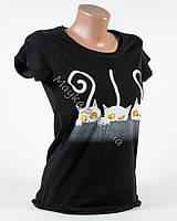 Молодежная футболка Коты XS-S р.42-44 черная