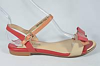 Кожаные босоножки сандалии на низком ходу Solange размеры 33-40