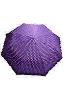 Полуавтоматический женский зонт лилового цвета