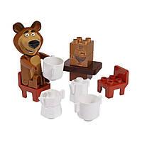 """Конструкторы «BIG» (0057090) стартовый набор чаепитие у Медведя """"Маша и Медведь"""", 11 элементов"""