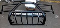 Защита переднего бампер (кенгурятник, бугель, дуга) Нива 2121 с защитой фар из стали