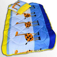 Детский комплект одеяло и подушка ТЕП, холлофайбер
