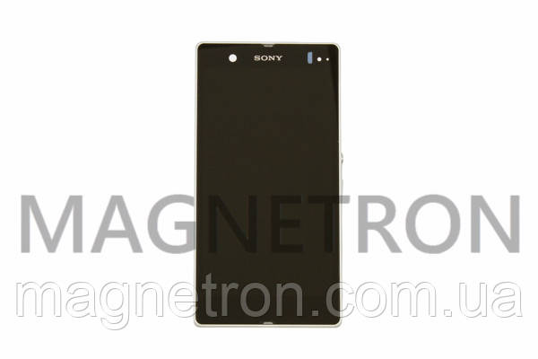 Дисплей с тачскрином и передним корпусом для мобильных телефонов Sony Xperia Z, фото 2