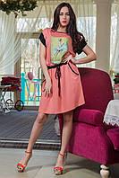 Платье PIN-UP из вискозы с карманами в мелкий горошек 50+ размер