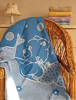 Детское одеяло байковое Мишутка 100х140