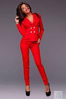Женский брючный деловой костюм в расцветках А1244