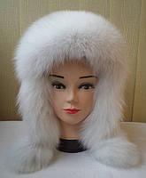 """Женская зимняя шапка-ушанка """"Зимушка альбинос"""""""