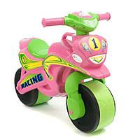 Детский толокар Байк Спорт 0139/30 Фламинго - Тойс, розовый с салатовым