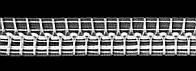 Драпировочная лента (шторная тесьма) шир. 6 см, органза (розница для пошива)