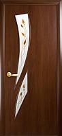 Дверное полотно МДФ 'Камея' 80 орех+Р1 (Модерн Р)