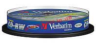 Диск VERBATIM CD-RW 700Mb 12x Cake 10 pcs 43480 1 (43480)