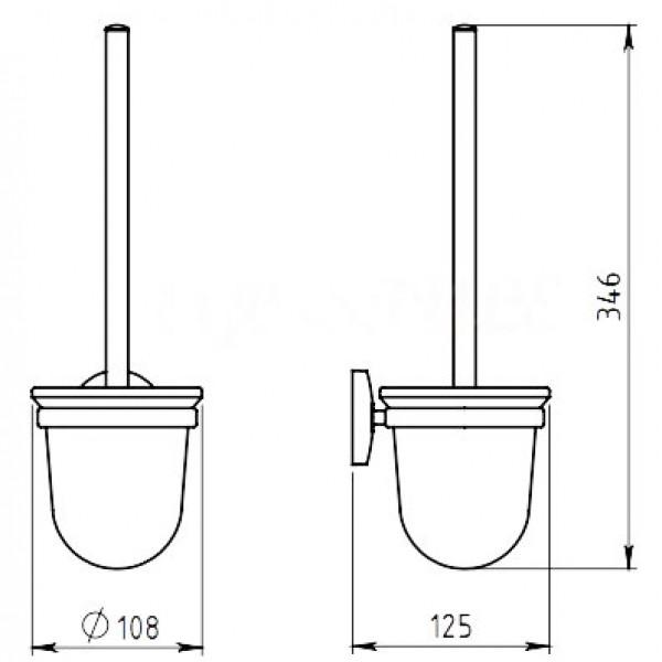 ferro Ferro Ершик для туалета Ferro Novatorre 6133.0
