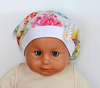 Детская Косынка Бэби тонкий хлопок. р. 40-46 (3-12 мес) Т.розовые, разноцветные