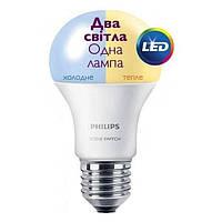 Светодиодная лампа Philips Scene Switch E27 9.5-60W, 3000K/6500K