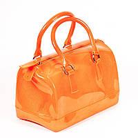 Стильная силиконовая сумка оранжевая Маленькая