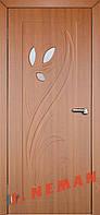 Дверь межкомнатная остекленная Тюльпан 2 (Золотой дуб)