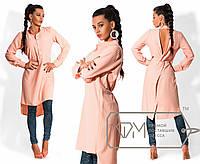 Платье-туника с вырезом на спине в расцветках 023 (007)