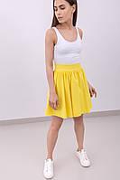 Женская летняя юбка-клеш с высокой талией, однотонная | Разные цвета