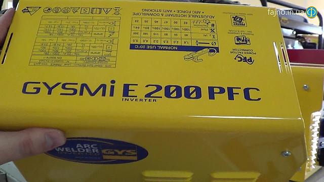 Gysmi E200 PFC сварочный инвертор