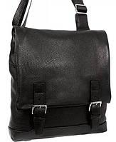 Качественная мужская сумка черного цвета для руководителей, кожаная Alvi av-2241