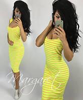Платье-майка летнее яркое в полоску разные цвета SML162