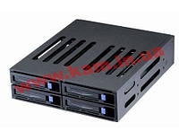 "Корзина горячей замены SATA3/ SAS2, черная (Отсеки: 1x 5.25"", Д (JJ-1040SS  SATA+SAS 4x2,5""HDD RoHS)"